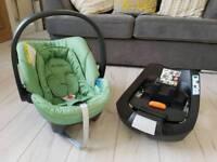 Cybex Aton car seat & isofix base
