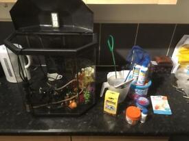 Fish Tank + Goodies
