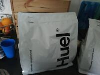 2 unopened bags of Huel meal replacement powder