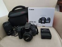 Canon EOS 70D with 2 lens, camera case (pick up in person cash only)