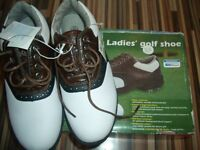 Ladies OR UNISEX Golf Shoes - Size 4 - Brand new in Box, spiked.