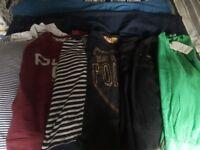 Designer Mens clothes bundle size small T-shirts & 32 Jeans