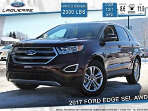 2017 Ford Edge SEL**AWD*CUIR*TOIT*GPS* CAMERA*BLUETOOTH*A/C*