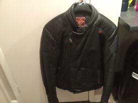 1980's leather biker jacket