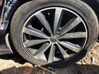 "Genuine Original Volkswagen Polo Mk8 6R SYENIT alloy wheel 16"" Diamond Cut"