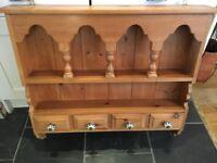 Solid Vintage Pine Wall Unit Dresser Top