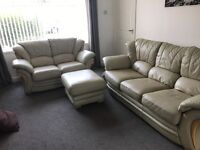 3 seater 2 seater and footstool