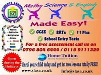 **1st two lessons totally free!** Maths, Science & English Tuition KS1 £7.50/h KS2, 3 & GCSE £8.50/h