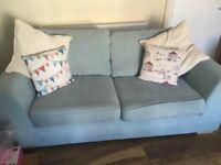 2 x DFS three seater sofas