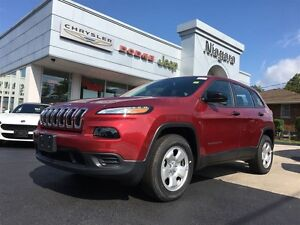 2017 Jeep Cherokee SPORT,4X4,COLD WEATHER GROUP,BACKUP CAM