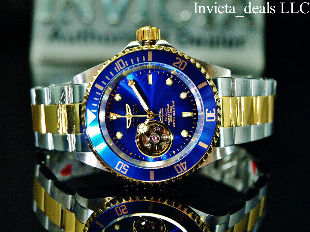 INVICTA MEN'S PRO DIVER 40MM TWO TONE STEEL BRACELET