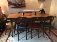 Dining table excellent condition reclaimed oak made in Norfolk