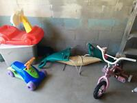 Kids outdoor toys (want gone)
