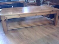 VERY LARGE PINE COFFEE TABLE FOR SALE. COULD DELIVER.