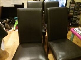 Four Dining Chairs..... MUST GO!