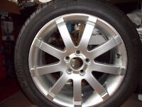 Spare alloy wheel for Volvo S80 complete with tyre