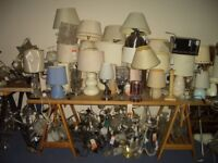 Selection of Table, Bedside Lamps, All Ex Display from B&Q, suit Car Booter or Brick a Brak Seller