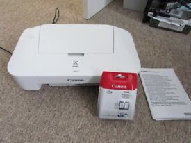 CANON PRINTER WITH SPARE INK CARTRIDGE
