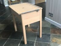Child's school desk - fully refurbished and revarnished but with original graffiti and ink stains!