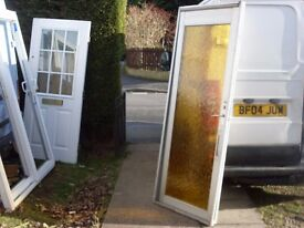 full glass door metal frame/ ideal for plants or greenhouse