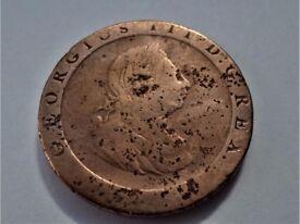1797 - George III Cartwheel - Two Pence Coin