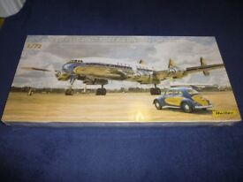 Model Kit - Heller Super Constellation airliner - Lufthansa 1/72 scale