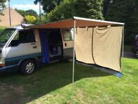 CAMPERVAN INTERIOR + DRIVE AWAY AWNING + WALL WITH FLOOR HIACE OR VW T4 / T5?