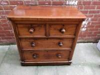 £115 mahogany chest of drawers farmhouse antique
