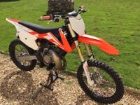 KTM 125 SX 2016 model , low hours in excellent condition