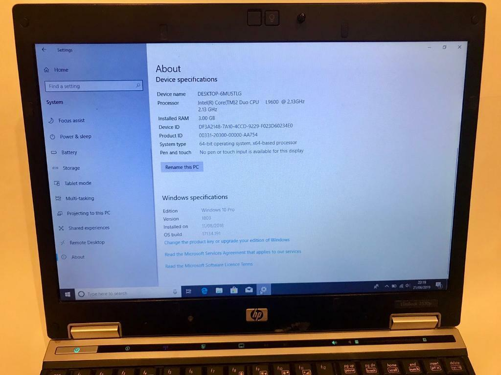 3GB HP HD Elitebook Laptop 160GB,Window10,Microsoft office,Ready,excellent  condition | in Sunderland, Tyne and Wear | Gumtree