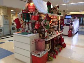 GINGER BREAD HOUSE SHAPE, SLATWALL, BUSINESS DISPLAY UNIT