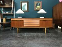 Teak Mid Century Sideboard by Morris of Glasgow. Retro Vintage. Danish Style