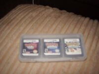 POKEMON GAMES SET OF THREE IN CASE NEW FOR DS,DSI,DI LITE,2DS,3DS
