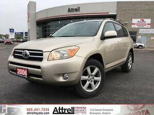 2006 Toyota RAV4 AWD Limited. Keyless Entry, Dual Air, Moonroof.