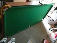 Snooker/pool folding table 6ft by 3ft