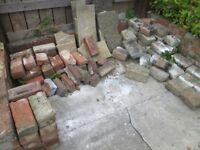 Rubble. Bricks, granite, gravel and concrete.