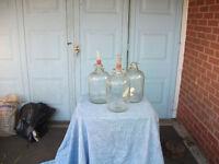 Beer or wine bottles or jugs