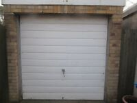 USED WHITE METAL SINGLE GARAGE DOOR