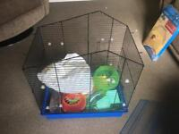 Hamster/small pet house and toys