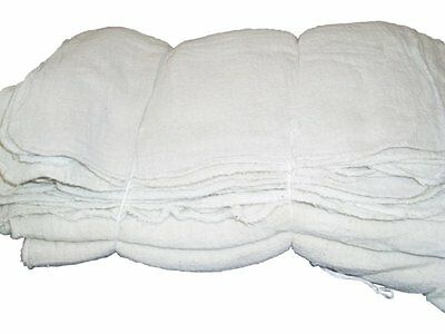100 WHITE SHOP TOWELS RAGS INDUSTRIAL CLEANING AVERAGE 14X14 LARGE BRAND NEW
