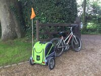 2xDoggyride mini bicycle trailers ( One with stroller kit as an extra)