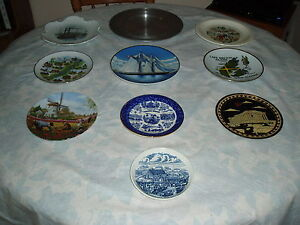 DECORATIVE SOUVENIR  PLATES - VARIOUS COUNTRIES