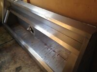 Large stainless steel fume extractor hood