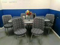 😍💕MIND BLOWING SALE⭐⭐ ON VERSACE WHITE EXTENDING DINING TABLE AND 6 CHAIRS