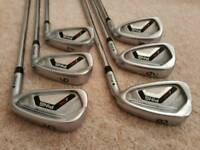 Ping i25 irons (5 to PW), with Ping CFS Stiff Shafts. Black Dot Spec. R/Hand