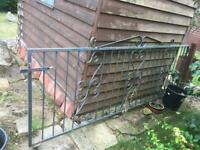 Vintage wrought iron gate, driveway gate, 9x3.5tf approx , .