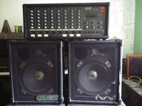 Sold - Powered Mixer - Part of ex Church PA system