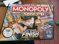 Hasbro Monopoly Speed (Brand new)