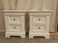 Ivory 2 Drawer Bedsides x 2