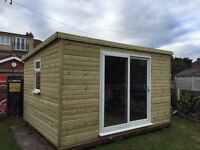 garden sheds and summer houses highest quality free instillation and free 51kg torch on felt